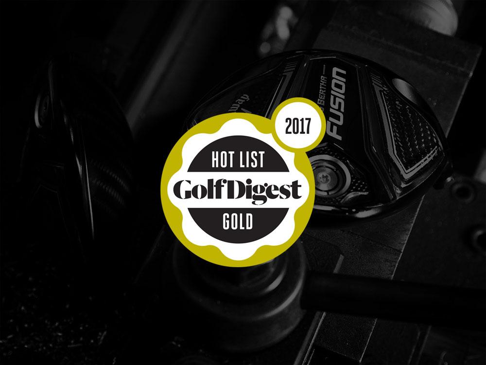 Callaway Big Bertha Fusion Driver 2017 Golf Digest Hot List Badge