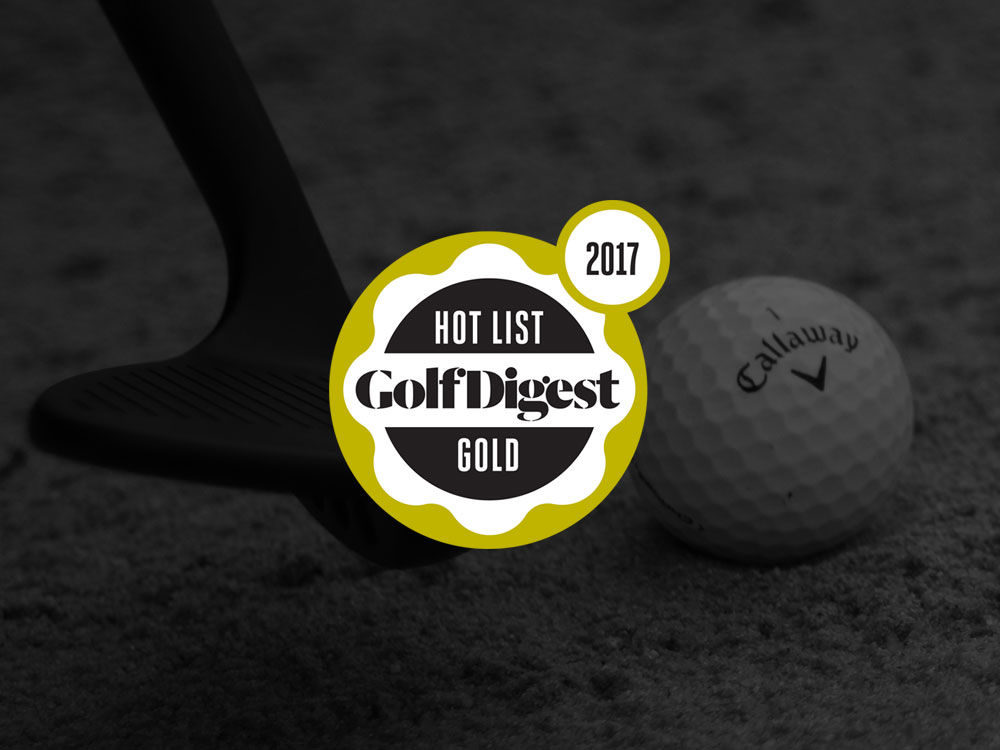 Callaway MD3 Milled Matte Black Wedge 2017 Golf Digest Hot List Badge