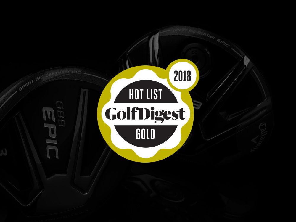 Callaway GBB Epic Sub Zero Fairway Wood 2017 Golf Digest Hot List Badge